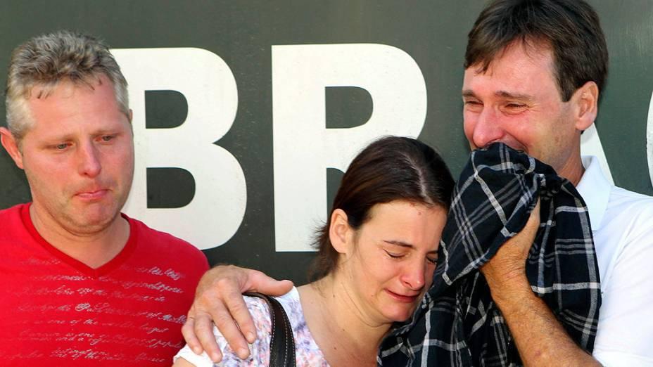 Familiares das vítimas do incêndio em Santa Maria, no Rio Grande do Sul