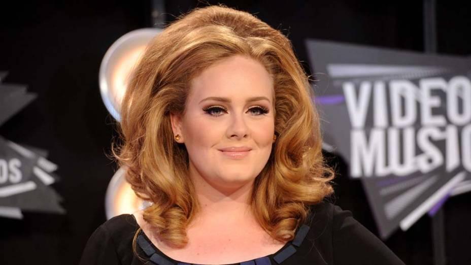 A cantora Adele, indicada ao Grammy 2012