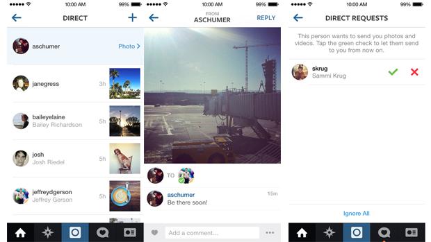 Instagram lança recurso de mensagens diretas entre usuários