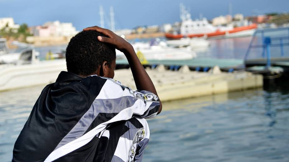 Sobrevivente do naufrágio do navio em Lampedusa