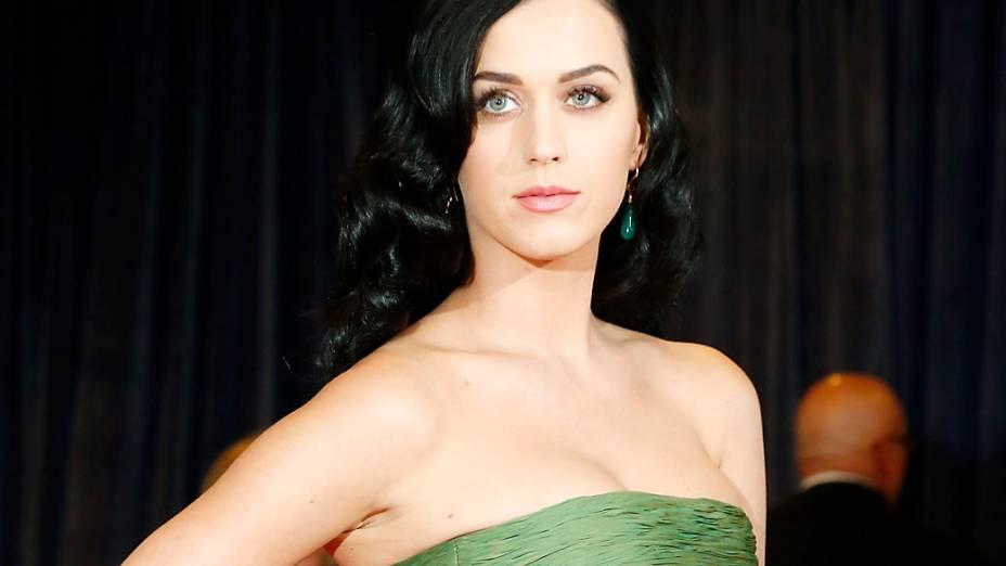 A cantora Katy Perry, no jantar para os correspondentes da Casa Branca