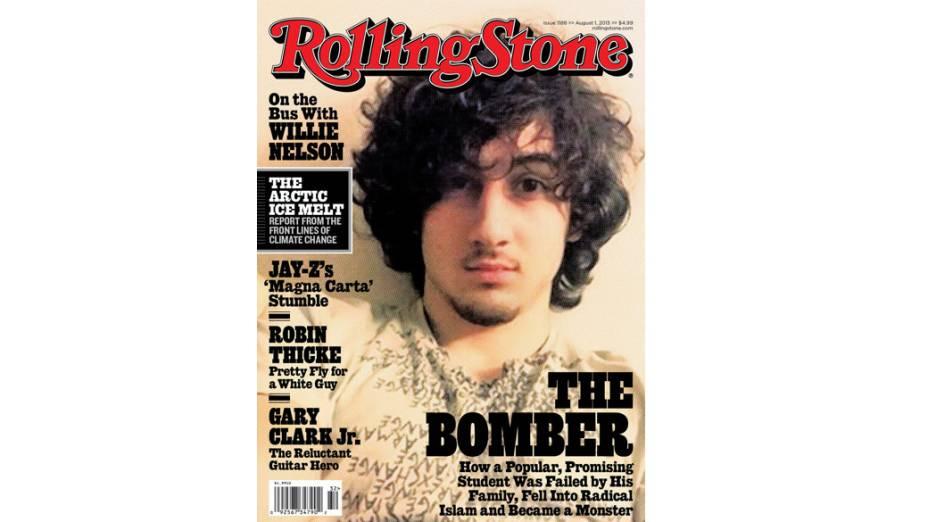 Dzhokhar Tsarnaev, o acusado atentado de Boston, na capa de sua última edição da revista Rolling Stone