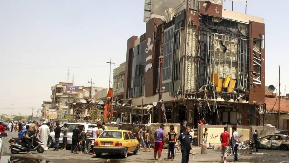 Local de uma explosão em um bairro predominantemente xiita na cidade de Sadr, ao norte de Bagdá - 01/08/2014
