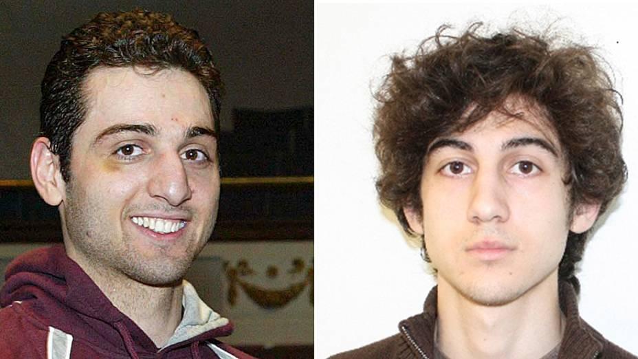 <br><br>  Tamerlan Tsarnaev e Dzhokhar Tsarnaev, irmãos suspeitos de terem realizado o atentado durante a Maratona de Boston