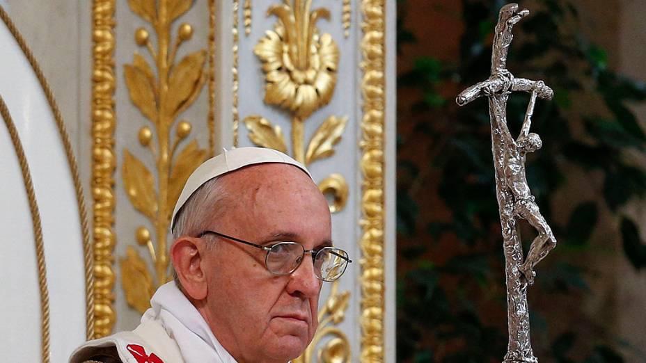 Papa Francisco preside missa solene na Basílica de São Paulo de Fora dos Muros, em Roma