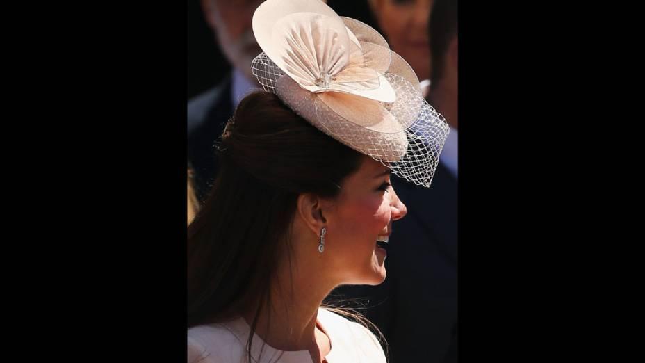 Kate Middleton no 60º de coroação da rainha Elizabeth II