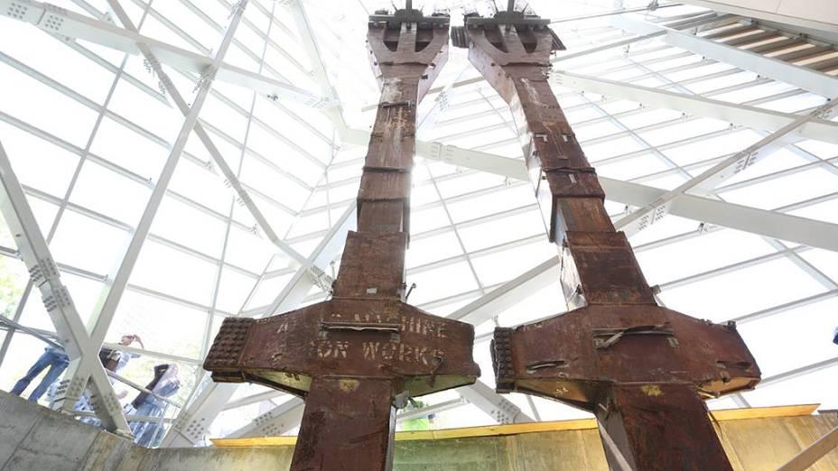 Estruturas retiradas dos escombros do World Trade Center ficarão expostas no hall de entrada do museu