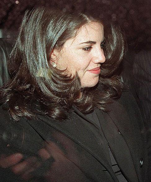 Monica Lewinsky em foto de 1998, em Washington
