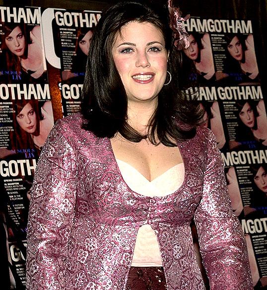 Monica Lewinsky participa de festa de lançamento de uma revista em Nova York, em 2001