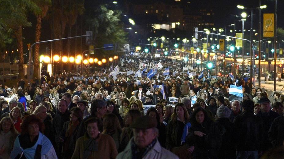 Protesto teve como principais reclamações a corrupção, a insegurança e a inflação