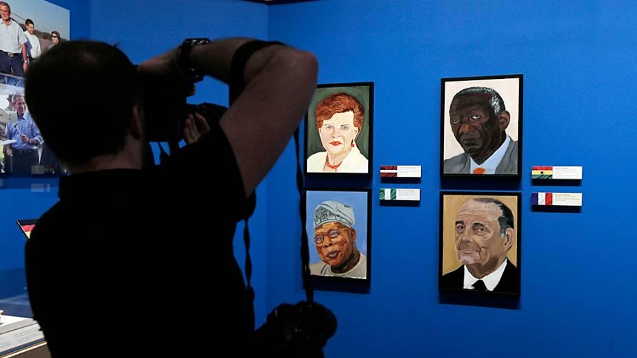 Pinturas feitas pelo ex-presidente dos Estados Unidos George W. Bush