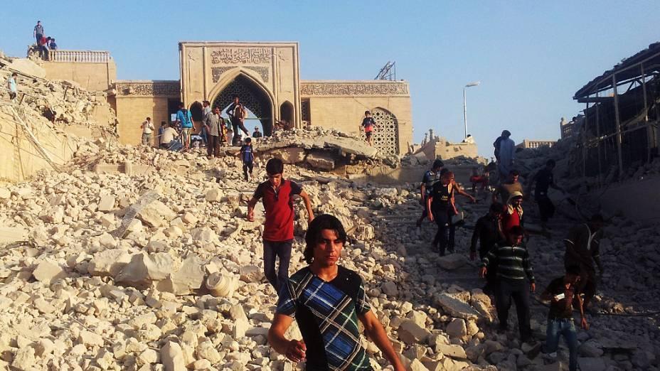 Templo de Jonas destruído em Mosul, Iraque