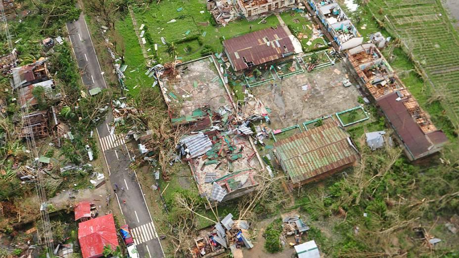Região devastada pelo supertufão Haiyan nas Filipinas