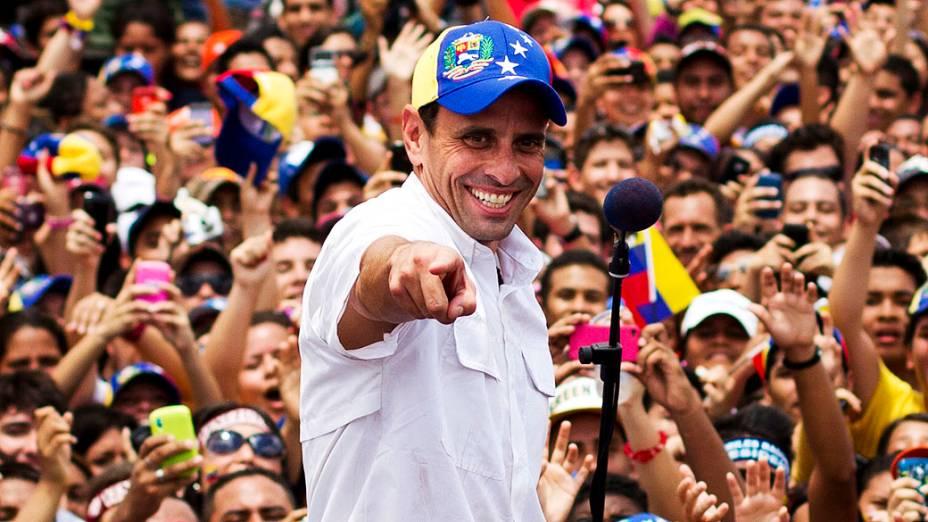 Opositor Henrique Capriles participa de evento em Maturin, no estado de Monagas 20/03/2013