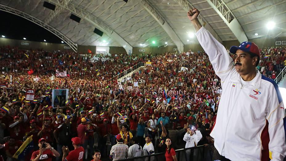 Presidente em exercício da Venezuela, Nicolás Maduro participa de evento no estado de Lara, em 24/03/2013