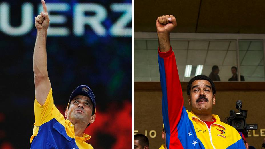 Candidatos à presidência da Venezuela, Henrique Capriles e Nicolás Maduro