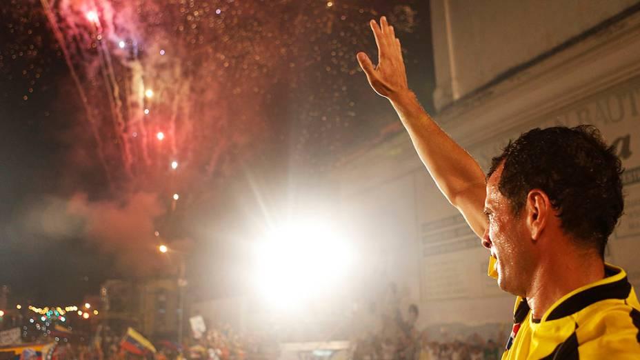 Candidato a presidente Henrique Capriles, durante campanha no estado de Tachira, na Venezuela