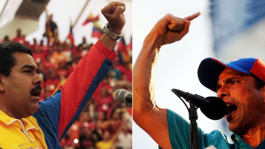 Candidatos à presidência da Venezuela, Nicolás Maduro e Henrique Capriles