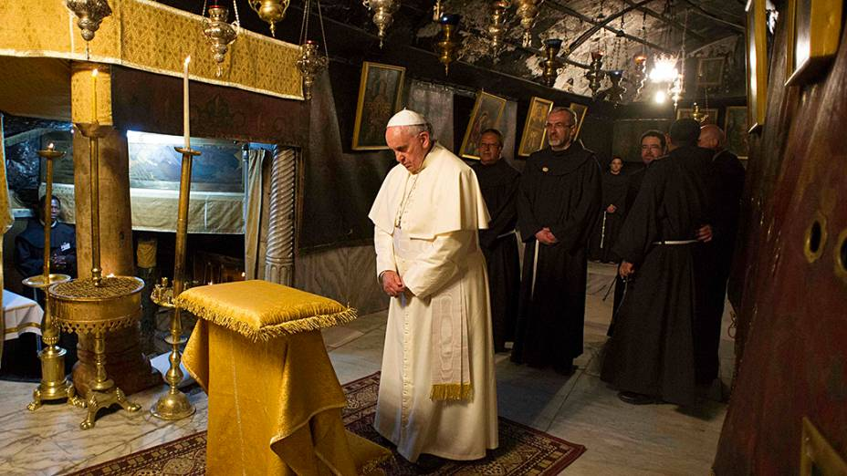Papa Francisco visita a Igreja da Natividade, em Belém