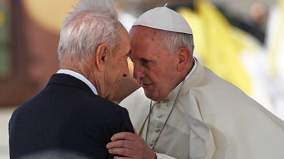 Papa Francisco encontra o presidente de Israel Shimon Peres