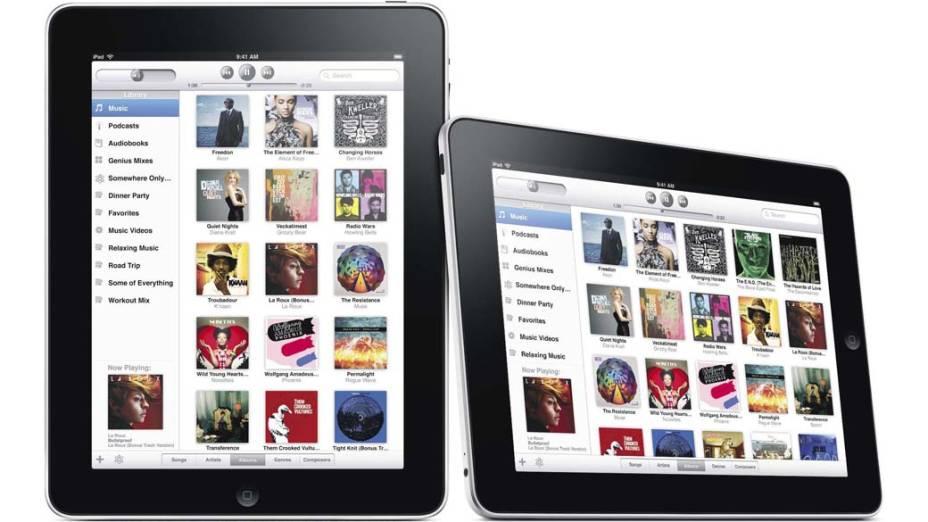 iTunes Store rodando no iPad