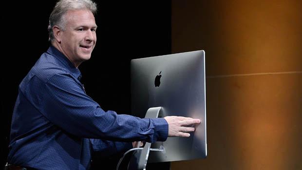 Phil Schiller, vice-presidente sênior de marketing da Apple, apresenta o novo iMac