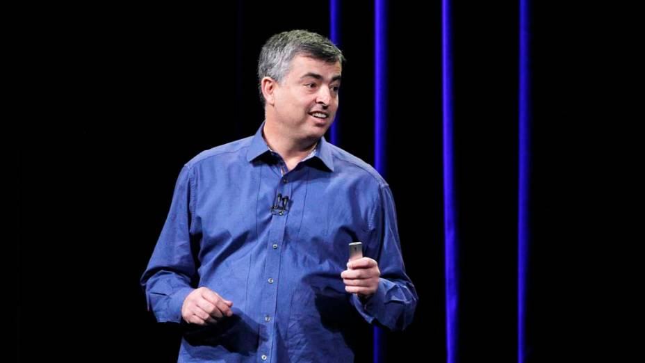 Eddie Cue, vice-presidente de internet da Apple, durante apresentação em São Francisco, nos Estados Unidos