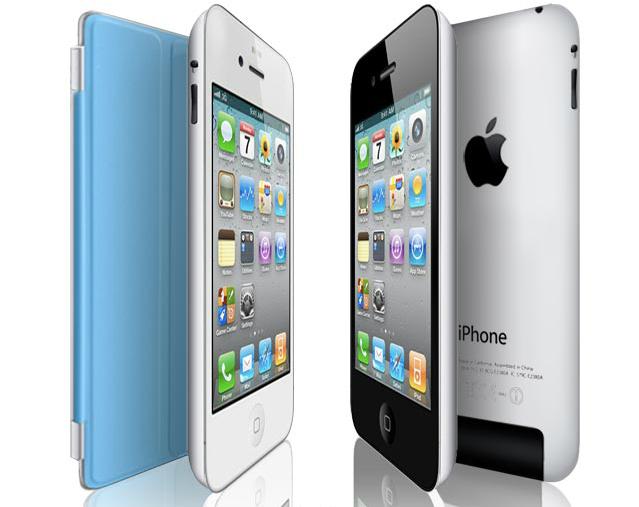 O modelo mostra um iPhone 5 similar ao o tablet iPad, incluindo até uma capa do tipo smart cover