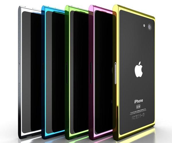 O que você acha de uma versão colorida do iPhone? A Apple costuma aplicar cores aos seus players menores de MP3, mas parece que a regra não funciona com os smartphones