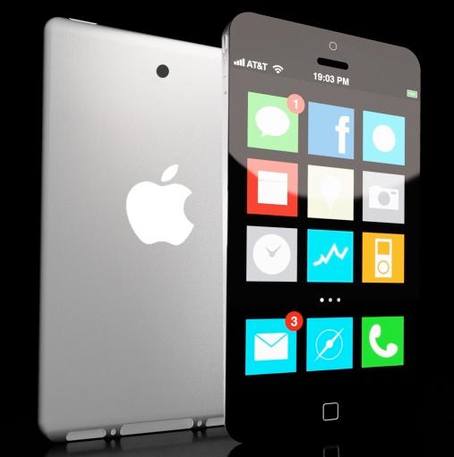 O design do aparelho parece interessante, mas a interface utilizada para a ilustração tem mais cara de Windows 8 do que de iOS