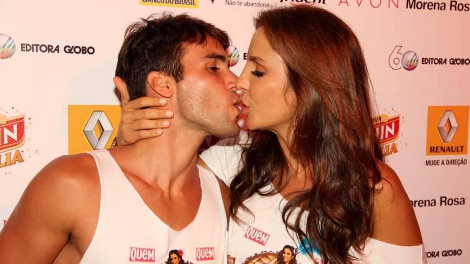 Ivete Sangalo e seu marido no Carnaval de Salvador, em 19/02/2012