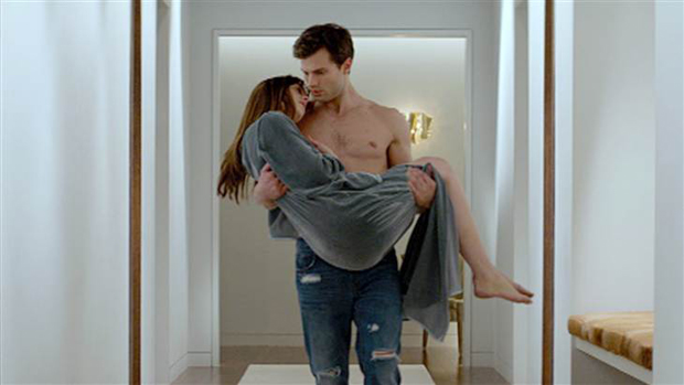 Jamie Dornan e Dakota Johnson como Christian Grey e Anastasia Steele
