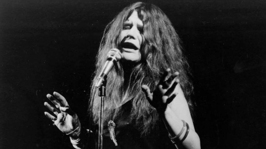 Janis Joplin em apresentação nos anos 1970