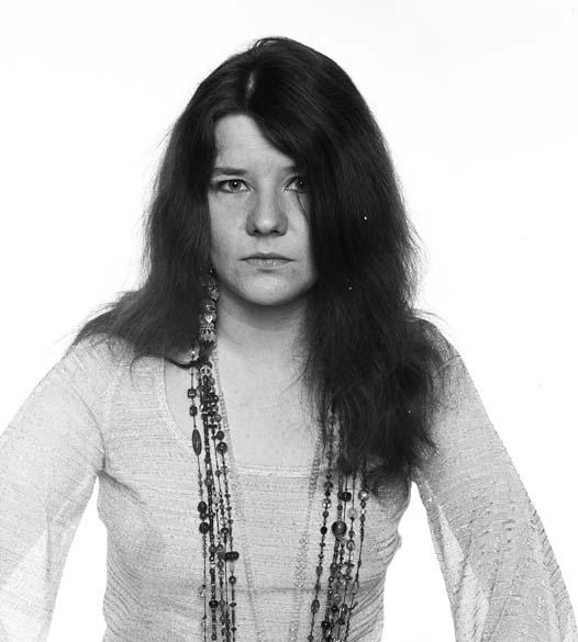 Janis Joplin em 1968, quando ainda integrava o grupo Big Brother and the Holding Company