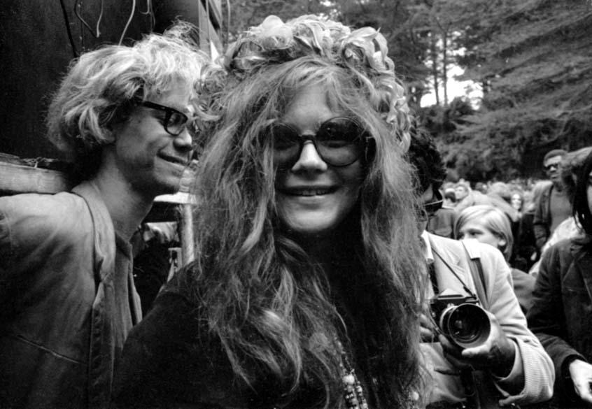 A cantora Janis Joplin foi considerada um dos símbolos do movimento hippie. Acima, em 1970
