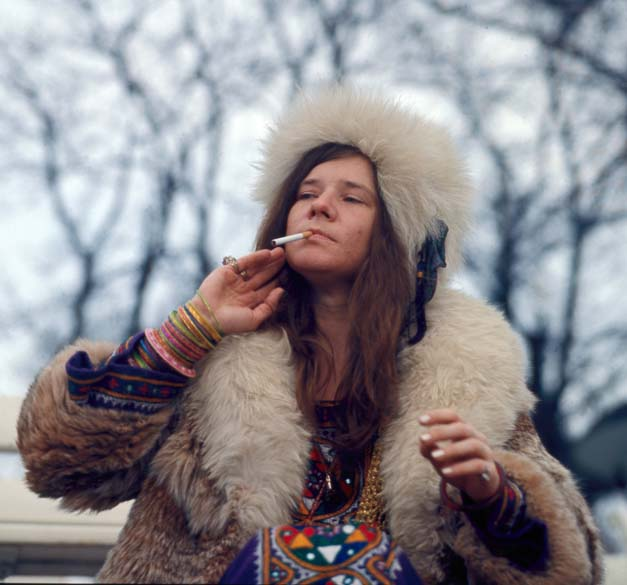 Janis Joplin em visita a Copenhagen, Dinamarca, em abril de 1969