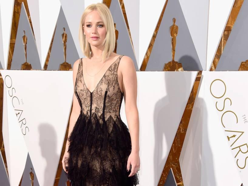 Jennifer Lawrence no Oscar 2016