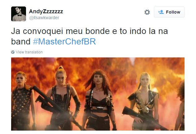 Espectador quer chamar gangue liderada por Taylor Swift no clipe de Bad Blood para brigar por volta de Jiang ao MasterChef