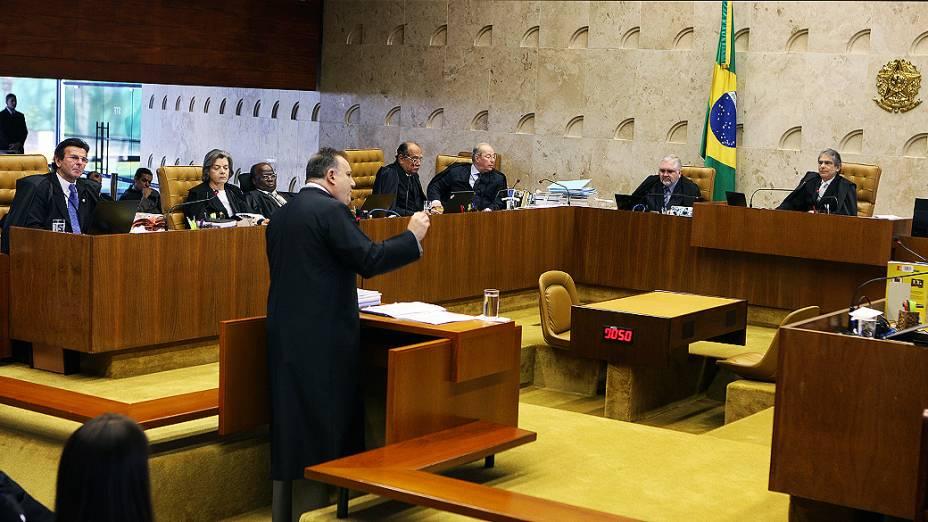 Primeira sustentação da sessão de hoje é a do advogado do réu Paulo Roberto Galvão da Rocha