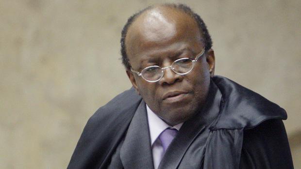 O ministro Joaquim Barbosa, relator do caso do Mensalão no STF