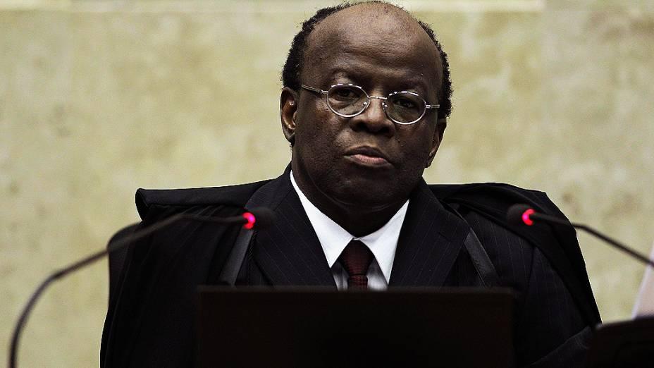 Joaquim Barbosa, como presidente do STF e relator do Mensalão, em 28/11/2012
