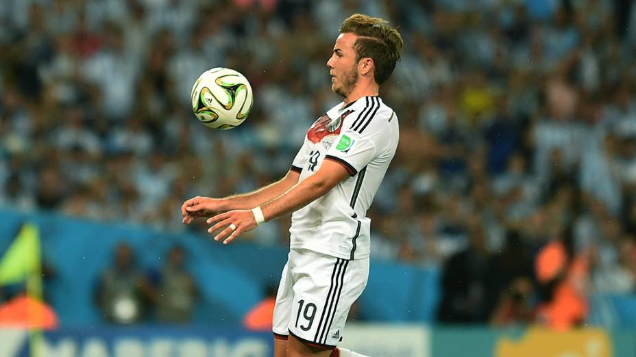O alemão Götze durante o jogo contra a Argentina na final da Copa no Maracanã, no Rio