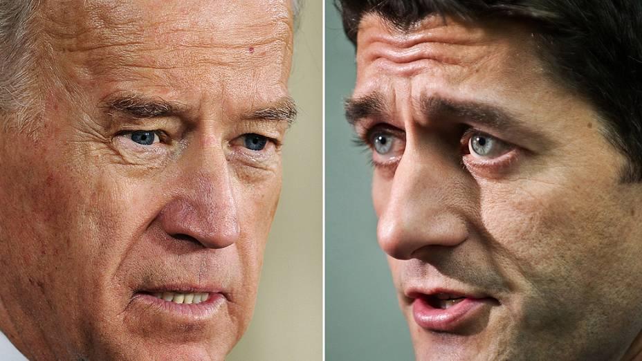 Joe Biden, vice de Barack Obama, e Paul Ryan, candidato a vice do republicano Mitt Romney para as eleições presidenciais de novembro, nos EUA