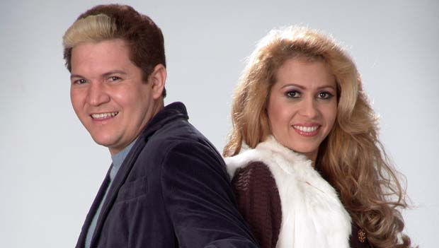Joelma e Chimbinha, da banda Calypso, em 2005