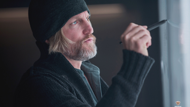 Woody Harrelson como o personagem Haymitch Abernathy em Jogos Vorazes: A Esperança - Parte 1
