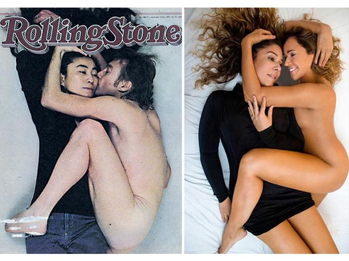 Daniela Mercury imita pose de John Lennon na capa da revista americana Rolling Stone