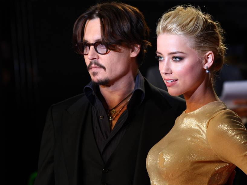 Johnny Depp e Amber Heard<br><br>