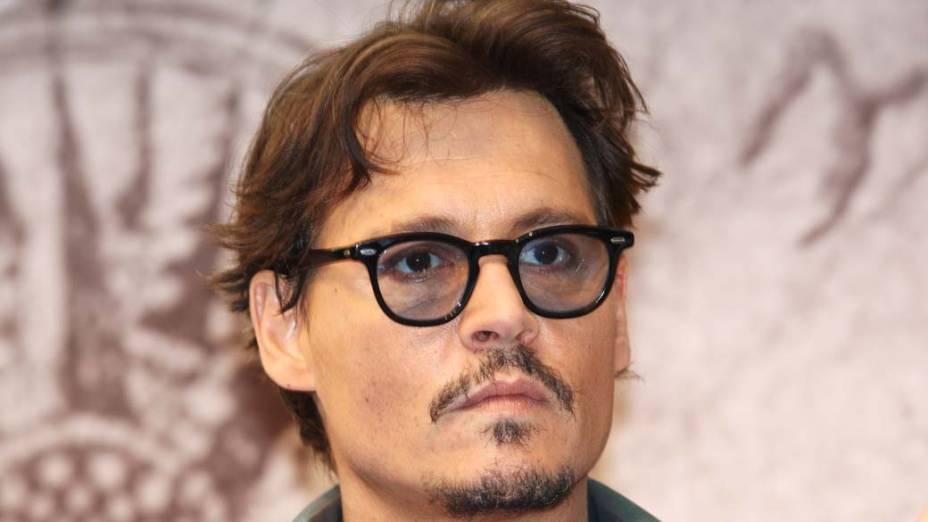 O ator Johnny Depp em Londres