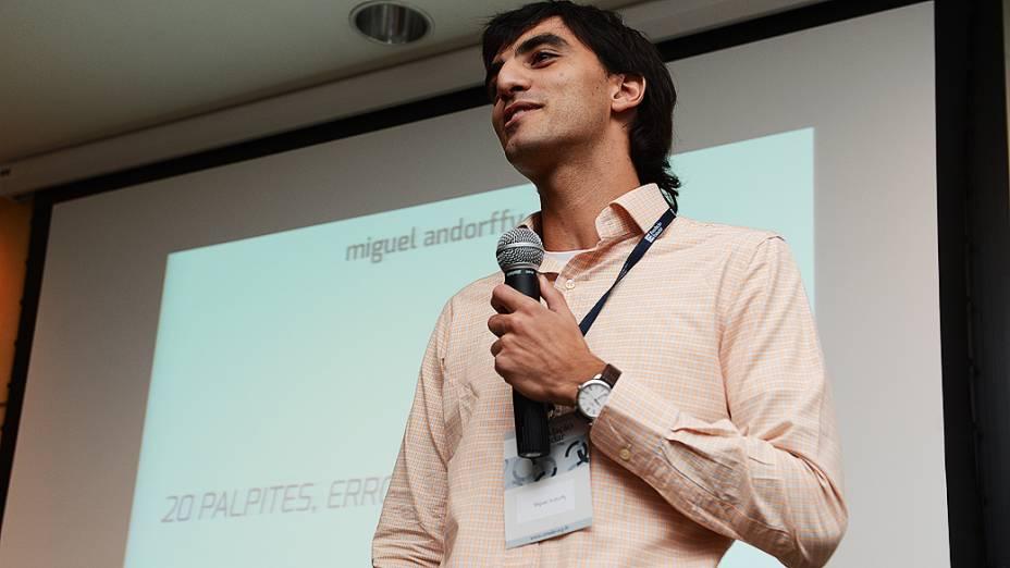 Palestra de Miguel Andorfyy, vencedor do Prêmio Jovens Inspiradores 2012