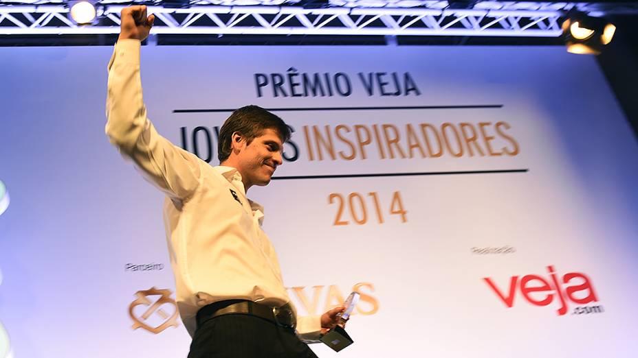 Lucas Lucchesi vencedor do Prêmio Jovens Inspiradores 2014, em São Paulo